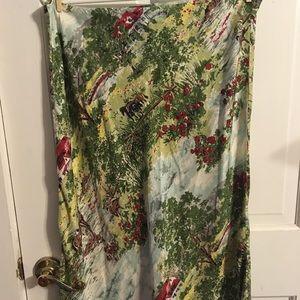 Gap Farm Silk Skirt